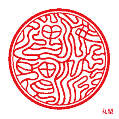 Sanbou in seal round shape