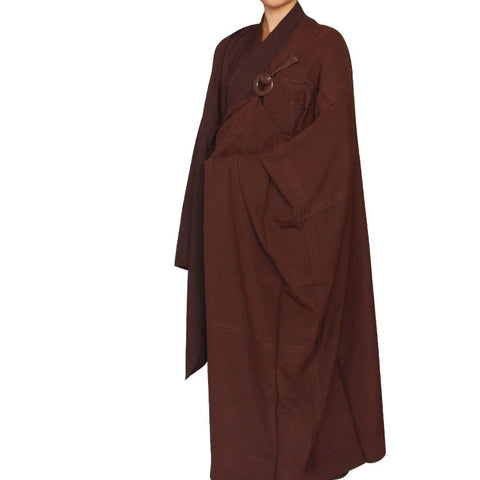 5 row Buddhist monk kesa patch sewn ceremony robe