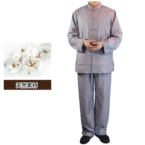 Buddhism Chinese Style Meditation Suit Casual Work Robe
