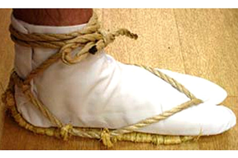 waraji tabi foot socks straw sandals Japan traditional stocking supply