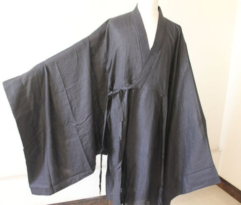 Koromo Robe,LINEN Cotton Blend,Elegant Color Black Brown Custom-made Japanese Buddhist School Style