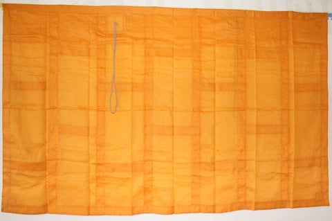 SAFFRON ORANGE 9 FOLD OKESA, KUJO-E BUDDHA'S ROBE,LIGHT WEIGHT LINEN, CUSTOM ORDER