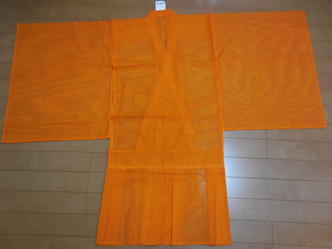 orange buddhist pleated koromo hoi robe