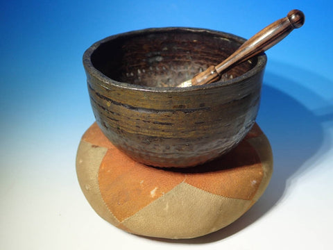 Antique Japanese Singing Bowl Bell,Dimpled Zen Style & Resonant Sound