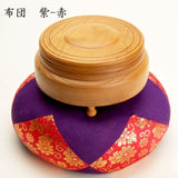 Japanese Unvarnished Mokugyo Drum,Takashi  Mokusyo Striker Cushion