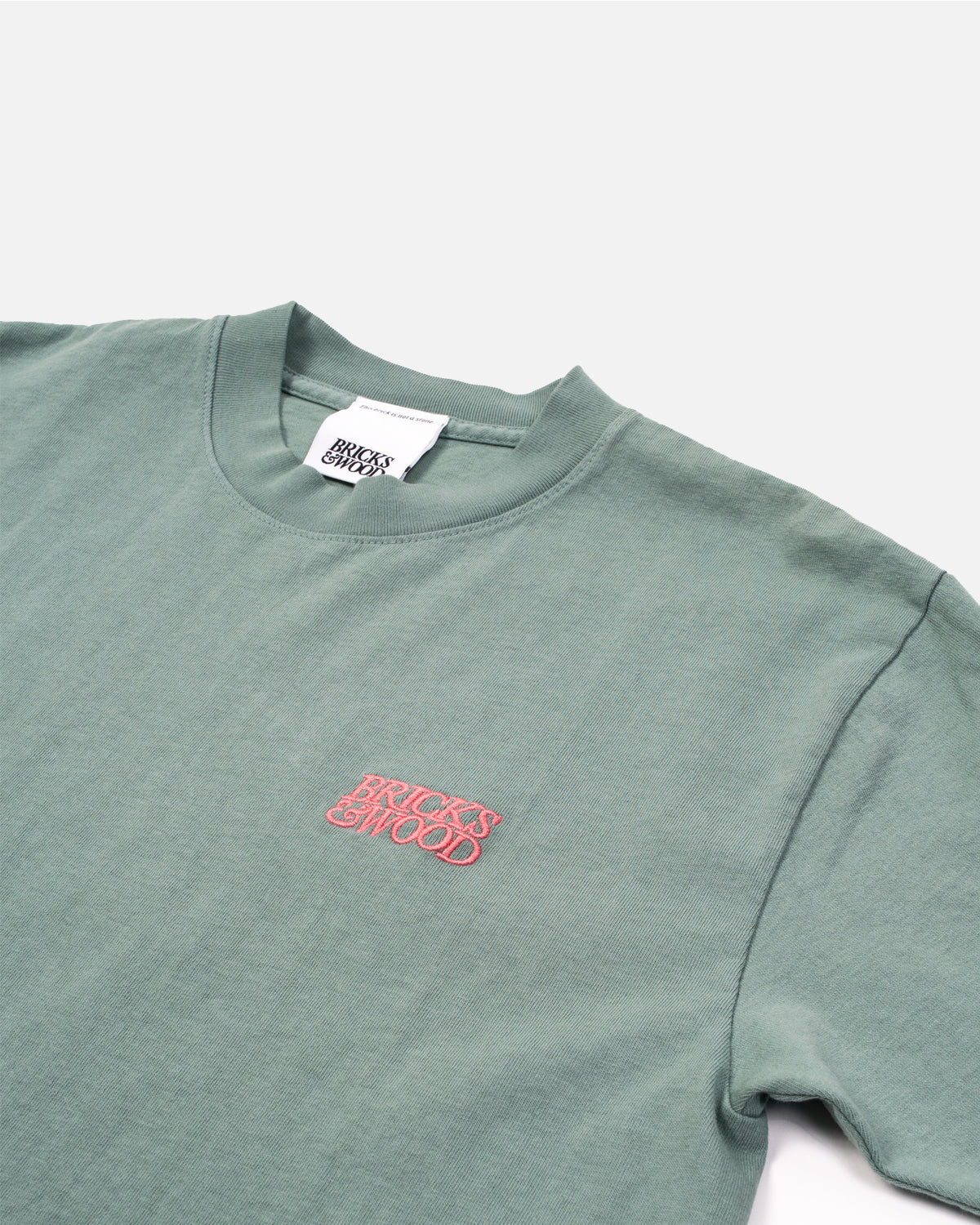 Bricks & Wood Green Tonal Logo Tee