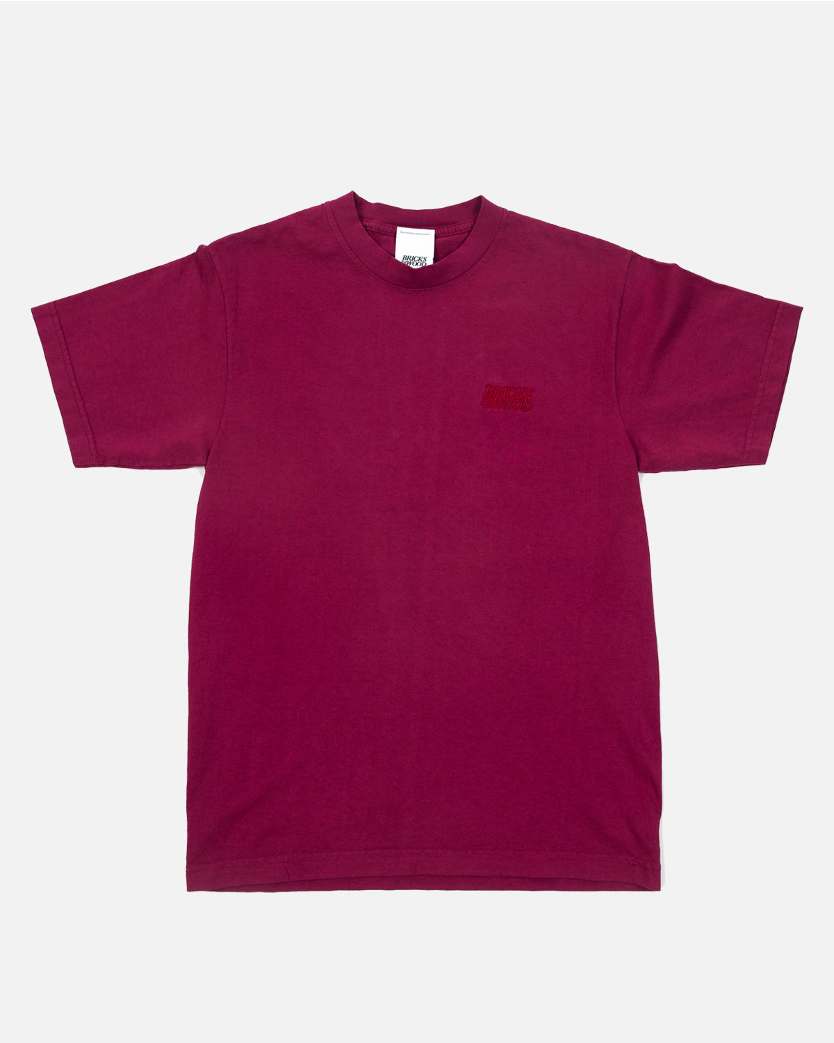 Bricks & Wood Fuchsia Tonal Logo Tee