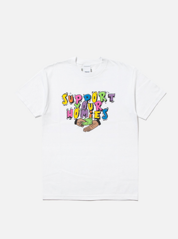 Support Your Homies White Tee