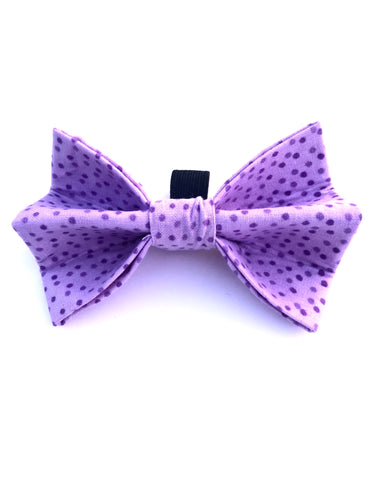 Purple Spots Bow