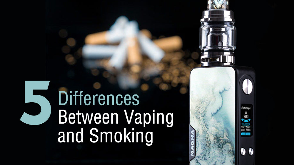 5 differences between vaping and smoking!