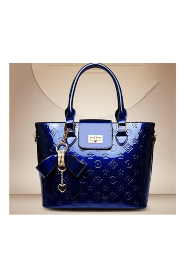 ROYAL BLUE LEATHER BAG - BLUE | Luna Soul