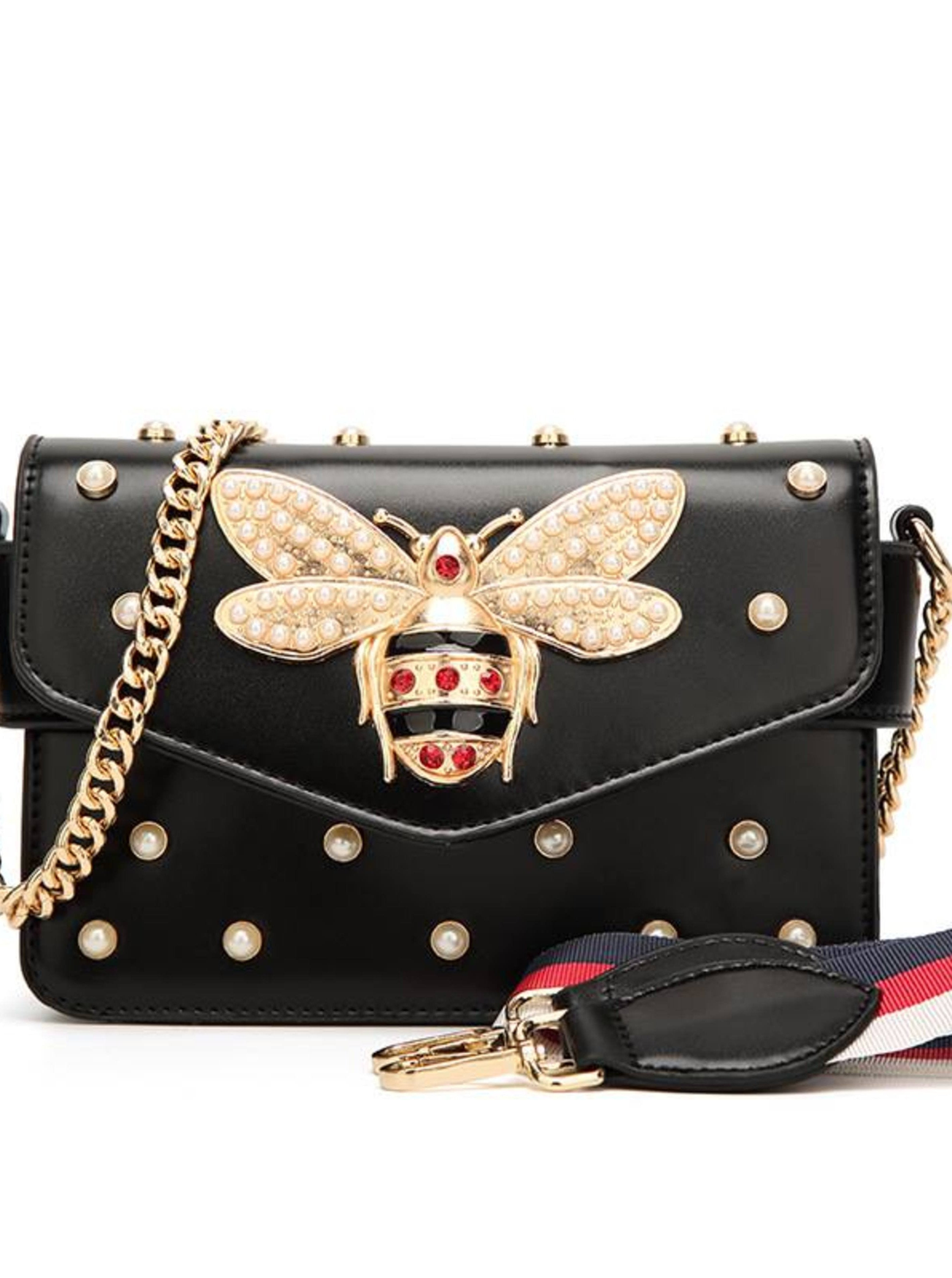 BUTTERFLY EMBROIDERED LEATHER CLUTCH, Bags, Luna Soul, Luna Soul