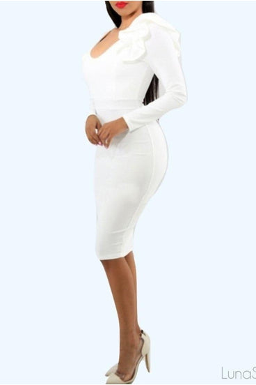 Ruffle Cloud bodycon dress, Dresses, Luna Soul, Luna Soul