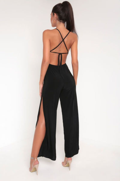 Backless Split Leg Jumpsuit, Jumpsuit & playsuit, Luna Soul, Luna Soul