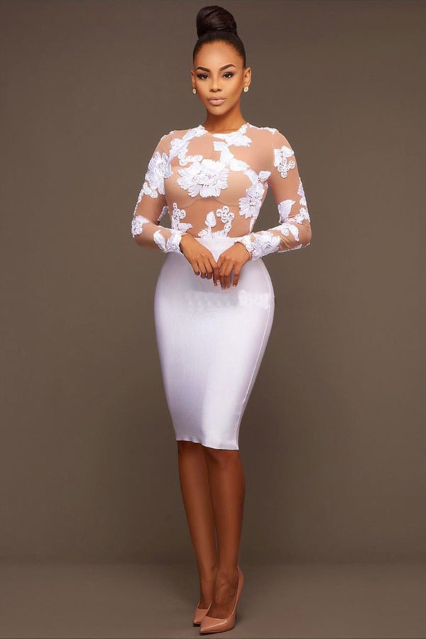 MESH DIVINE ROSE DRESS - WHITE | Luna Soul