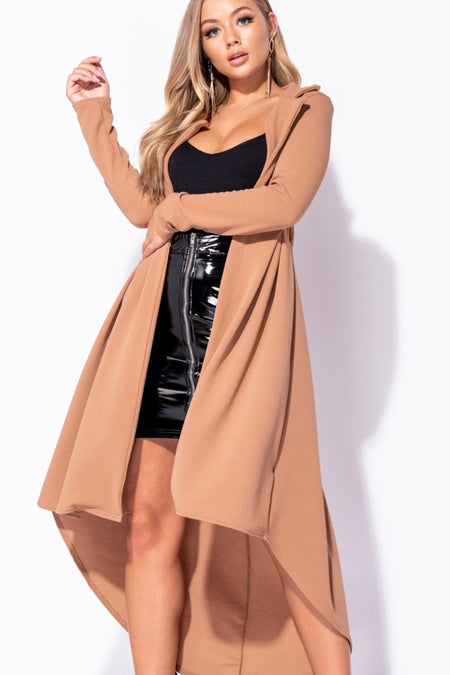 High Leather Mini Skirt & Crop Top Co-Ord Set Mine