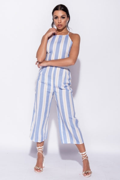 Baby Blue Vertical Stripe Set, Co-ord, Luna Soul, Luna Soul