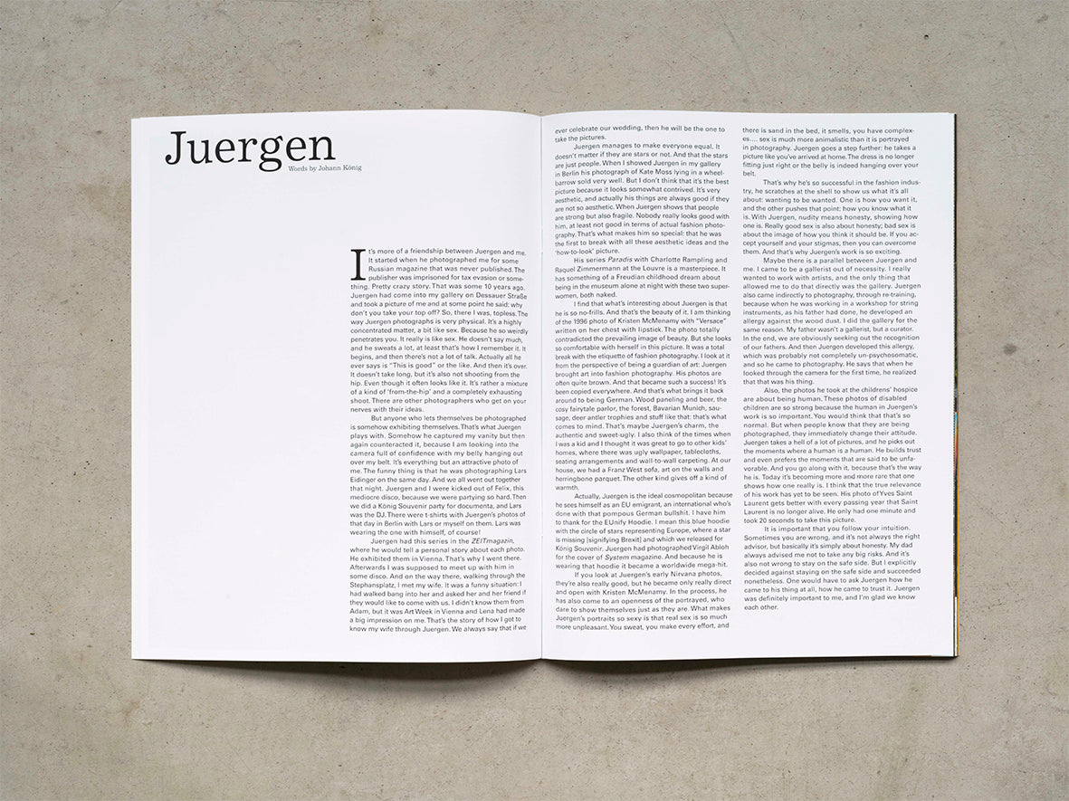 KÖNIG | Special Issue by Juergen Teller