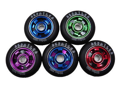 DERAiLED Scooter Wheels Triple Blade Alloy Metal Core 110mm with 88a PU