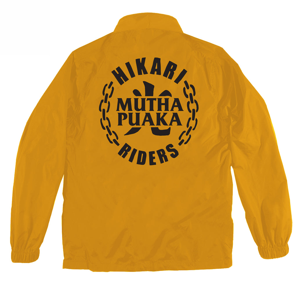 MUTHA PUAKA x HIKARI RIDERS COACH JACKET YELLOW