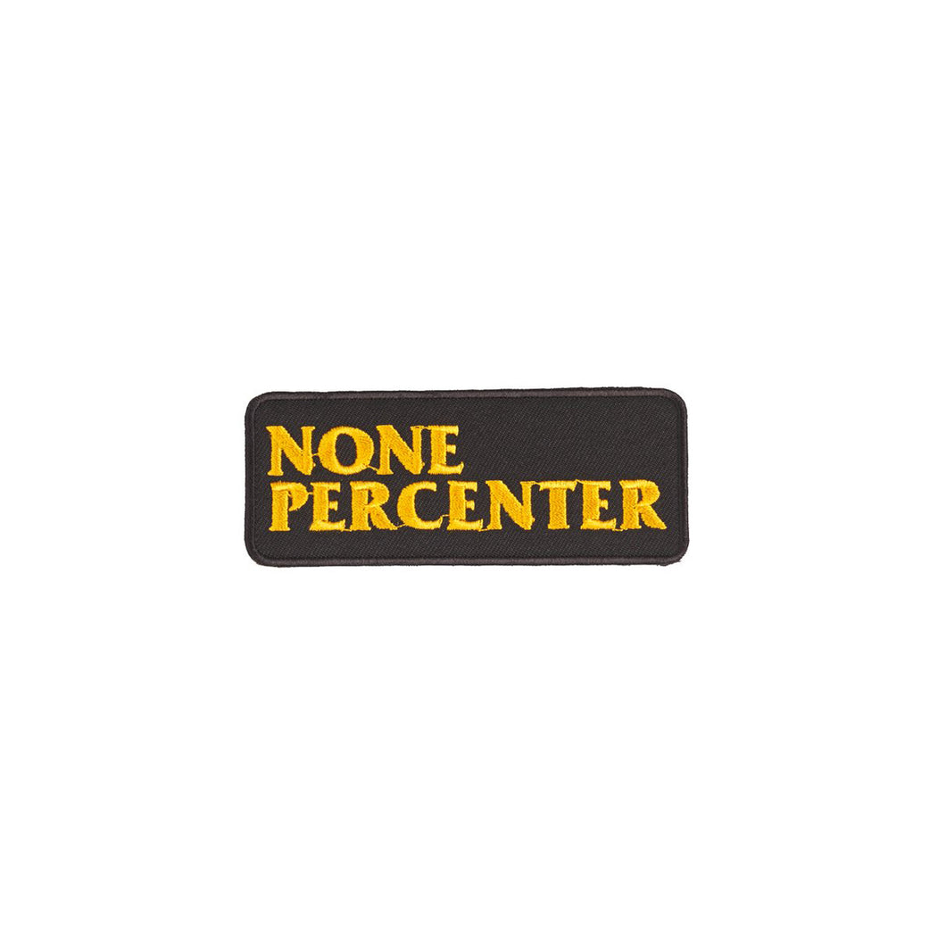 NONE PERCENTER PATCH  YELLOW