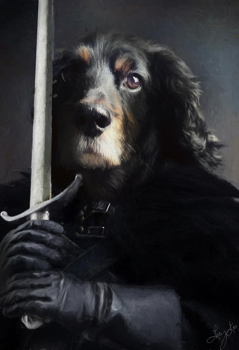 Knights Watch Pet Portrait at Turner & Walker