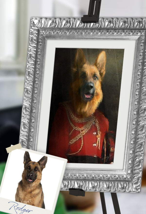 Commander Pet Portrait at Turner & Walker