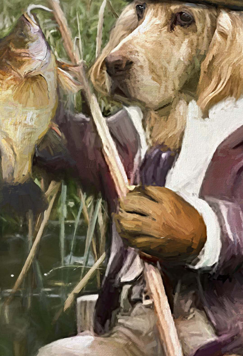 Gon' Fishin' Pet Portrait at Turner & Walker