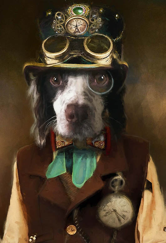 Steampunked Pet Portrait at Turner & Walker