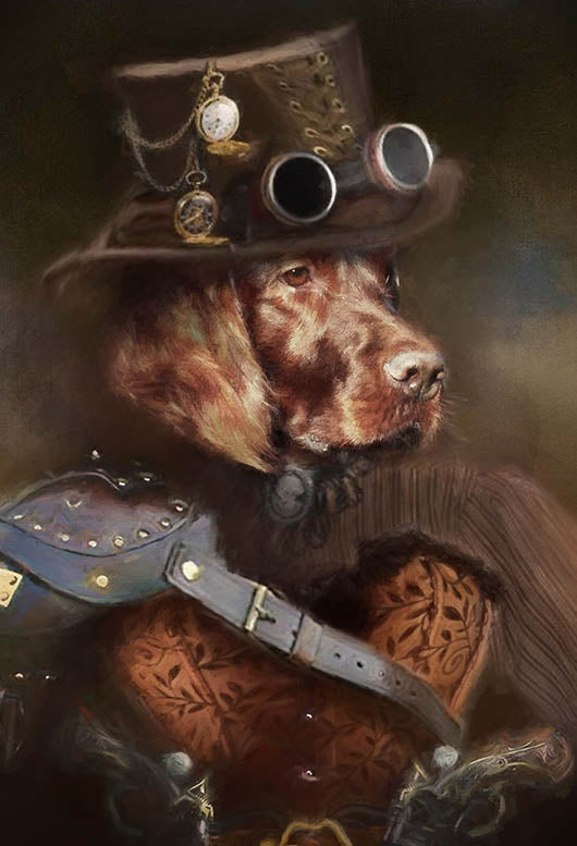 Steampunk Girl Pet Portrait at Turner & Walker