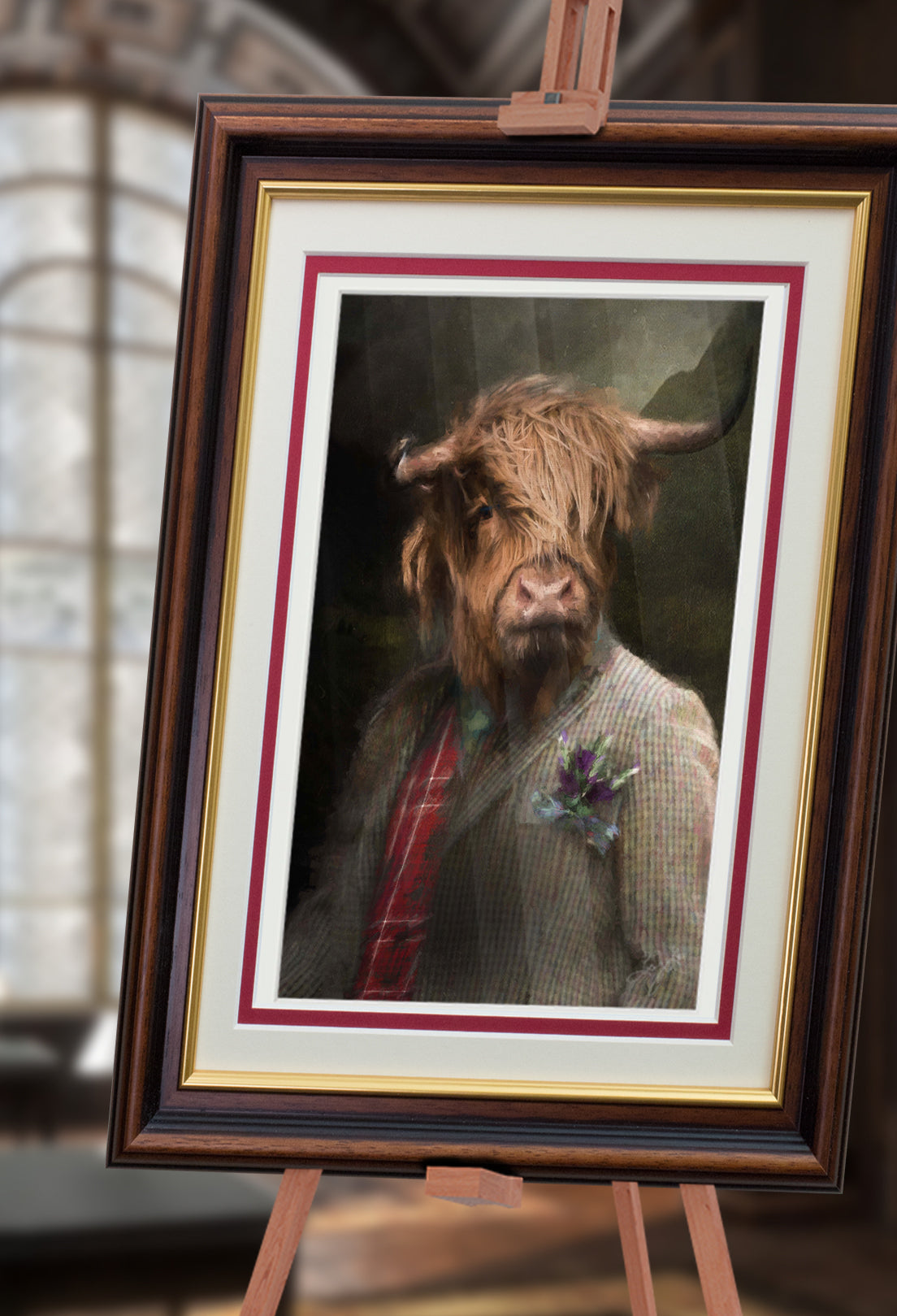 Highlander Pet Portrait at Turner & Walker