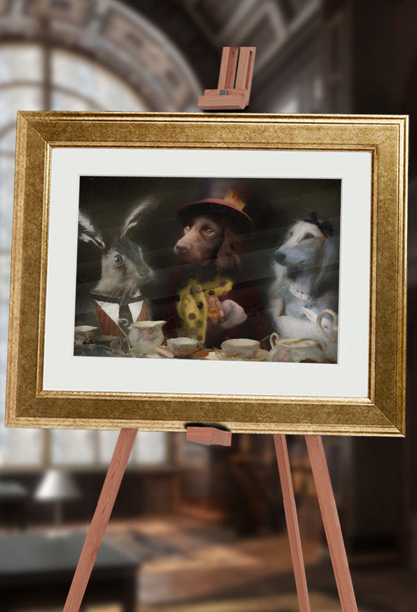 Tea Party Pet Portrait at Turner & Walker