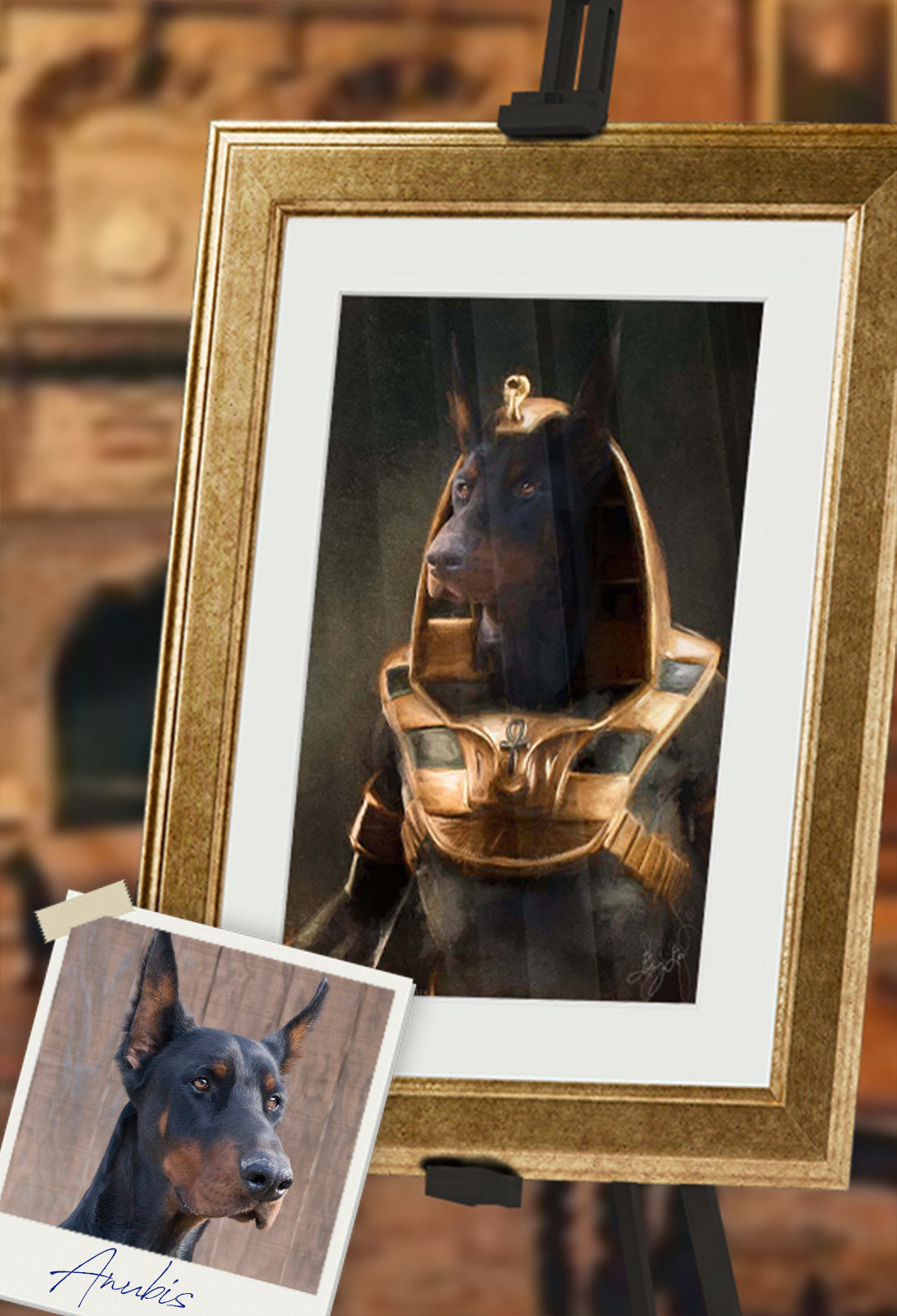Anubis Pet Portrait at Turner & Walker