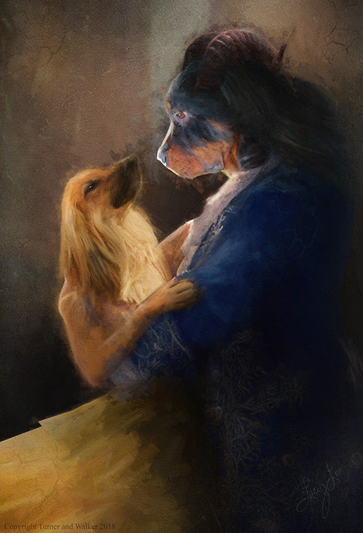 Beauty & The Beast Pet Portrait at Turner & Walker