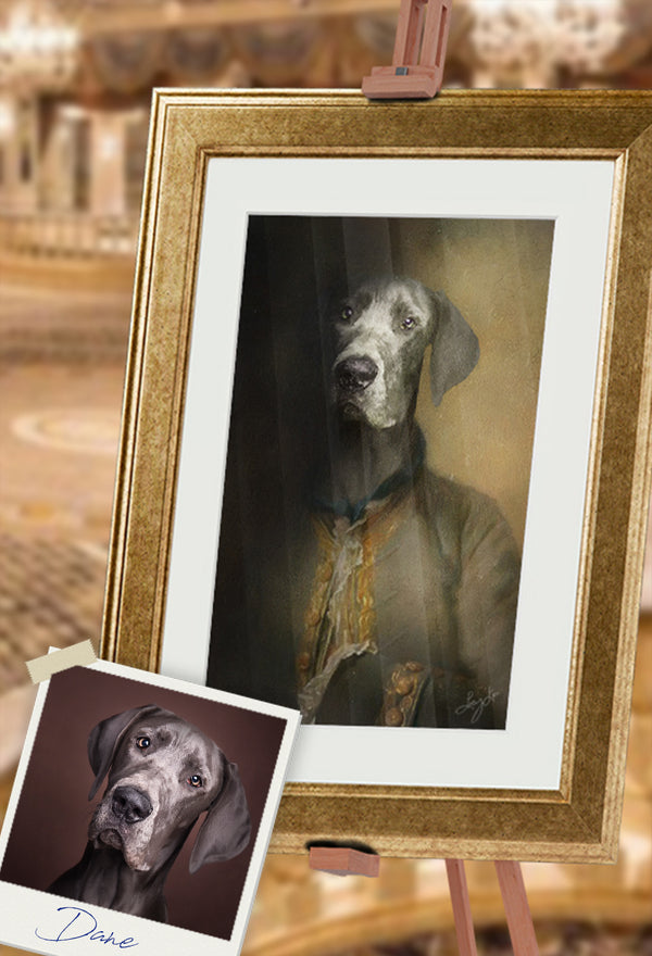 Dane The Great Pet Portrait at Turner & Walker