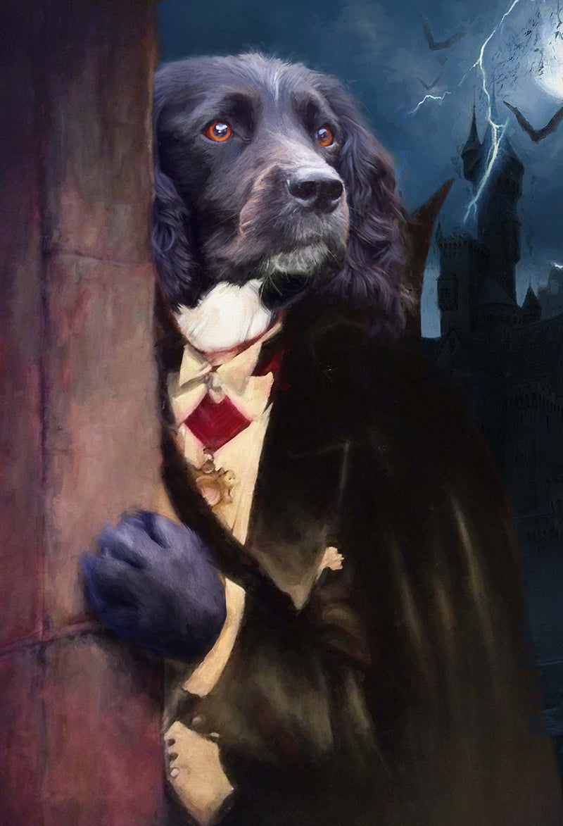 Dracula Pet Portrait at Turner & Walker