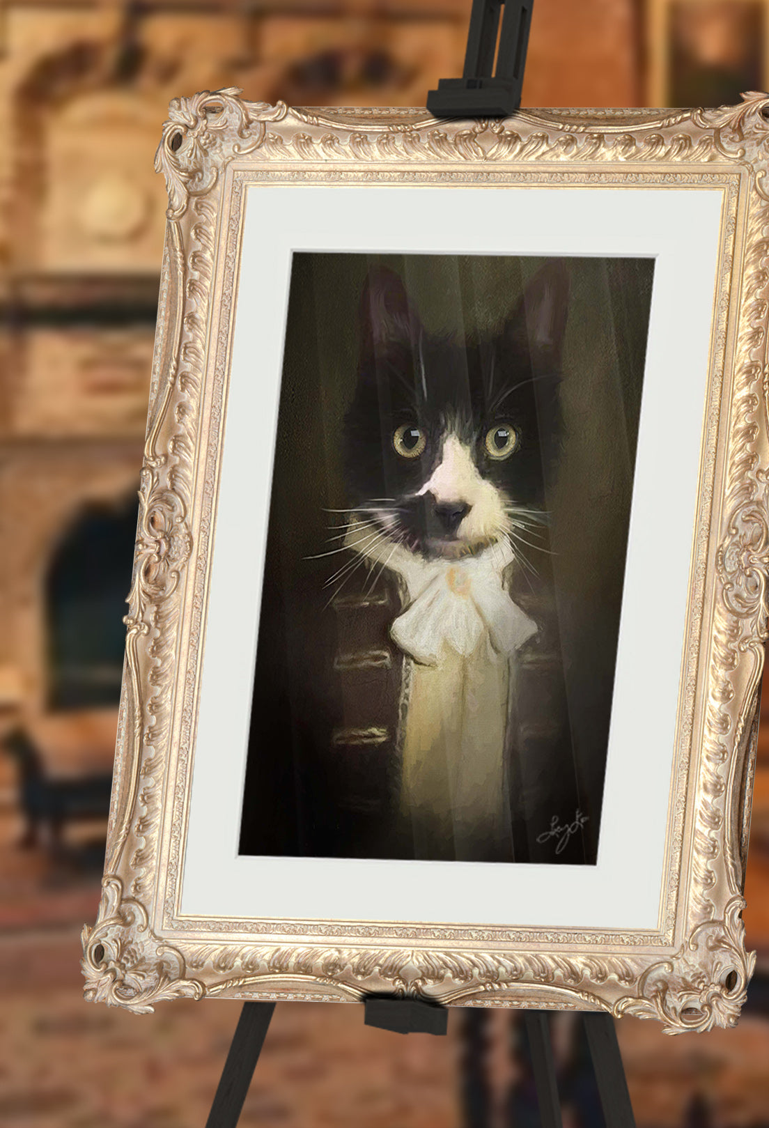First Mate Mittens Pet Portrait at Turner & Walker