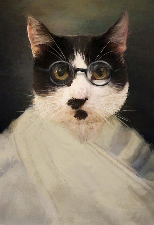 Gandhi Pet Portrait at Turner & Walker