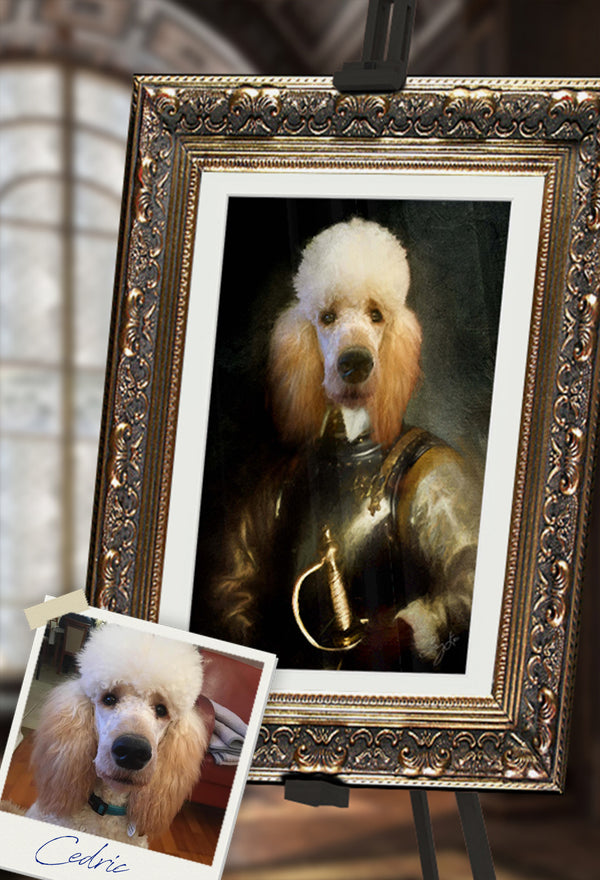 Golden Knight Pet Portrait at Turner & Walker