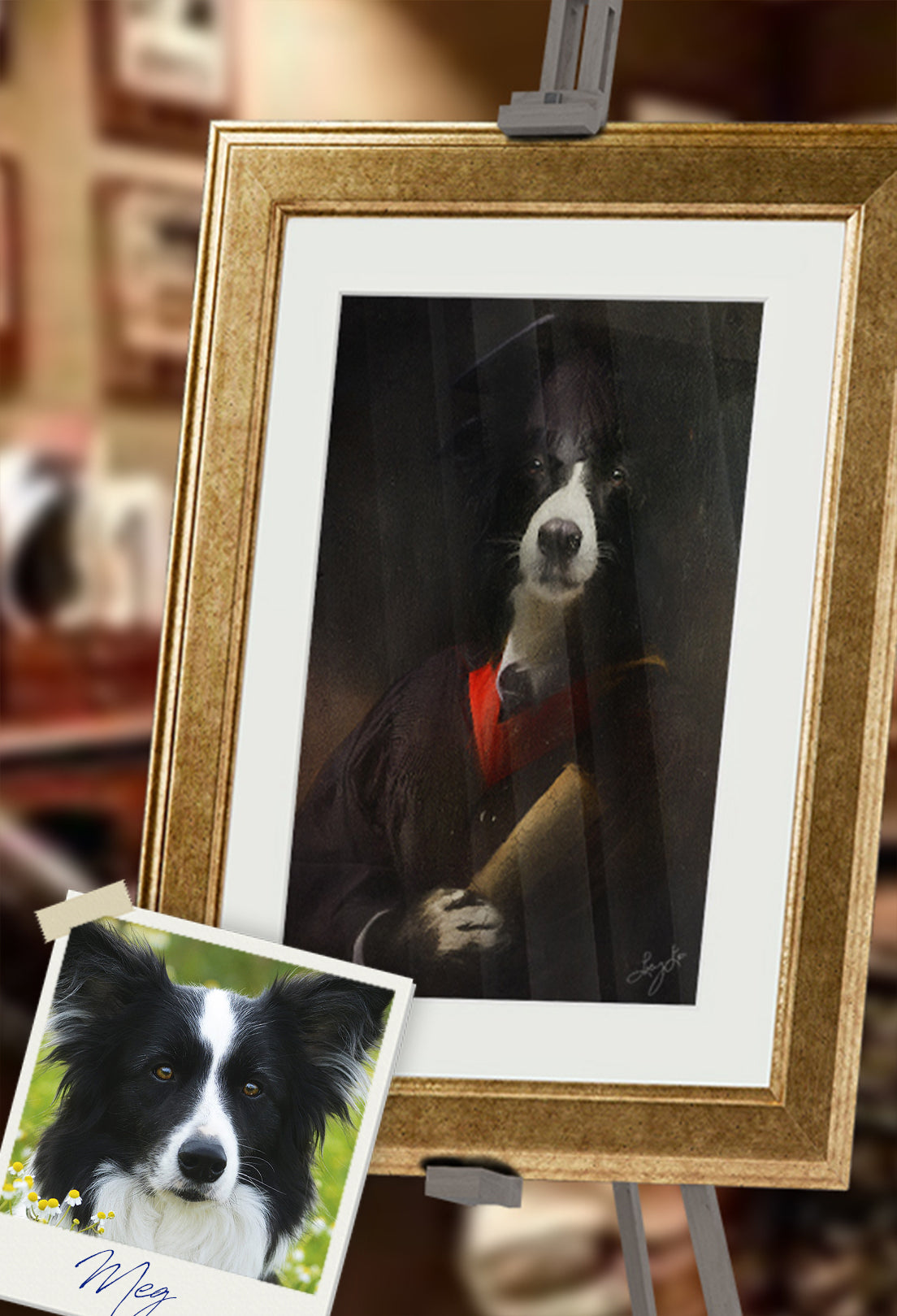 The Graduate Pet Portrait at Turner & Walker