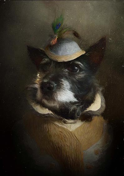 Lady Moo Pet Portrait at Turner & Walker