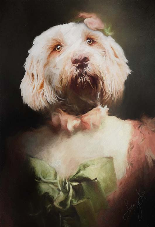 Lady Pet Portrait at Turner & Walker
