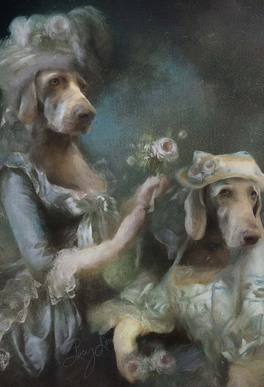 Duchess & Dame Pet Portrait at Turner & Walker