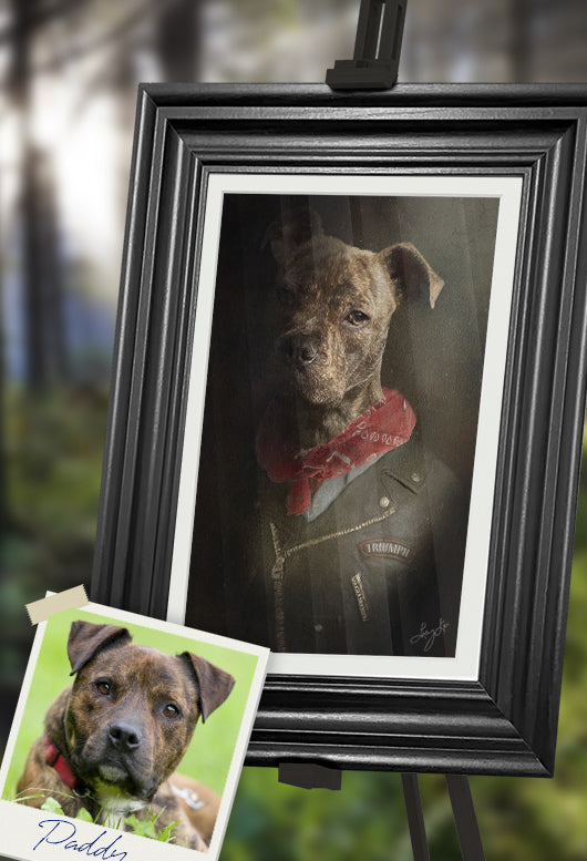 Negan Pet Portrait at Turner & Walker