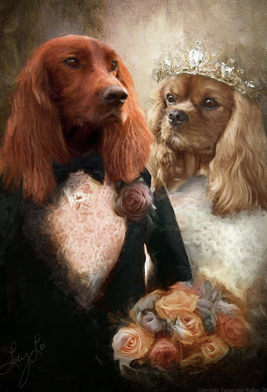 Newlyweds Pet Portrait at Turner & Walker