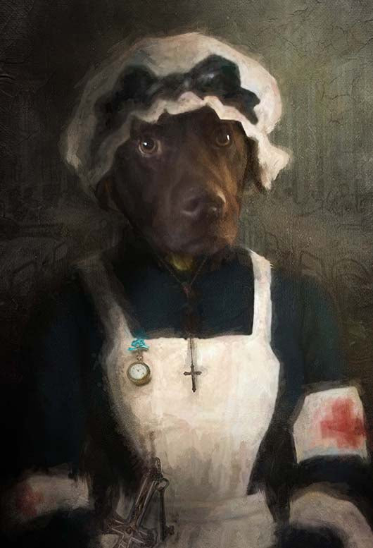 Nursing Pet Portrait at Turner & Walker