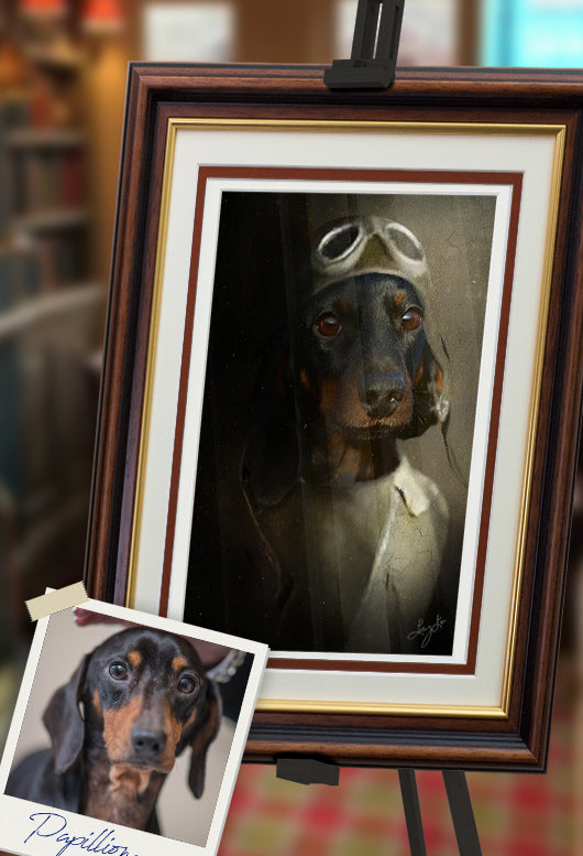 Pilot Pet Portrait at Turner & Walker