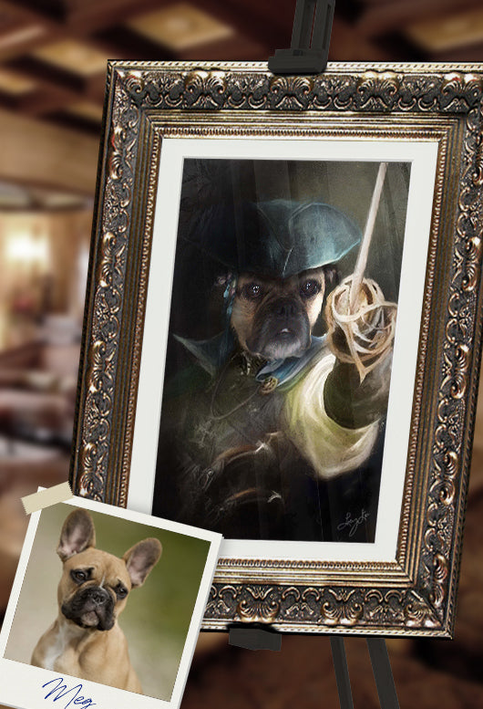 Pirate Pet Portrait at Turner & Walker