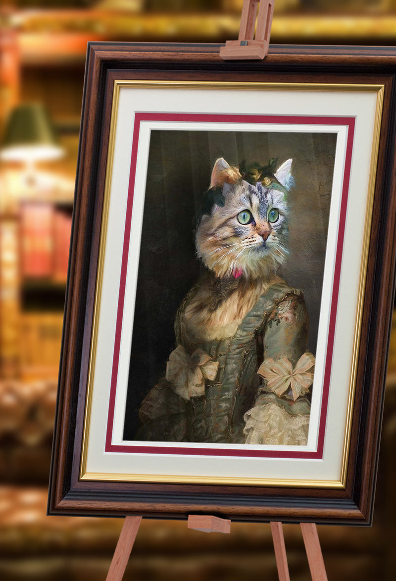 Pride and Purrjudice Painting from Turner & Walker Pet Portraits only £60