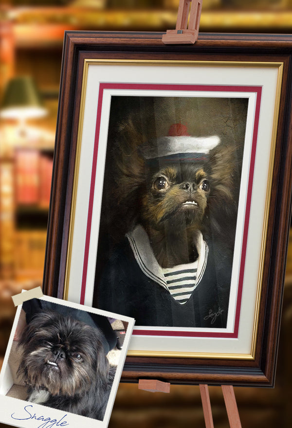Sailor Pet Portrait at Turner & Walker